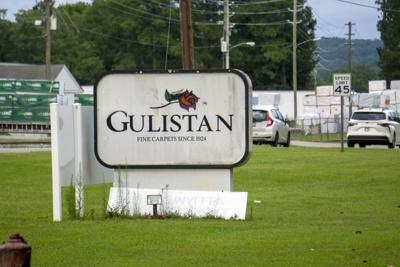 Sign in front of the former Gulistan Carpet plant on N.C. 5.