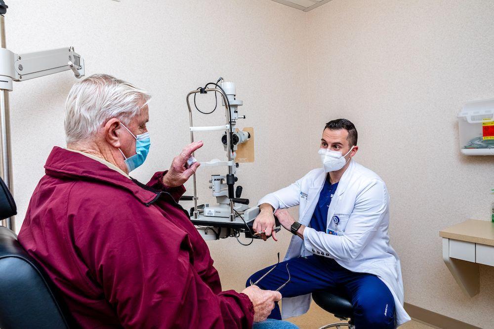 Dr. Anton Vlasov during an exam