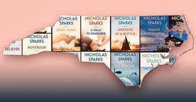 An Atlas of Nicholas Sparks Books Set in North Carolina