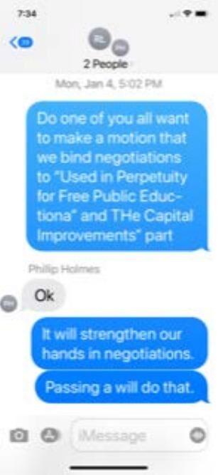 School Board Texts