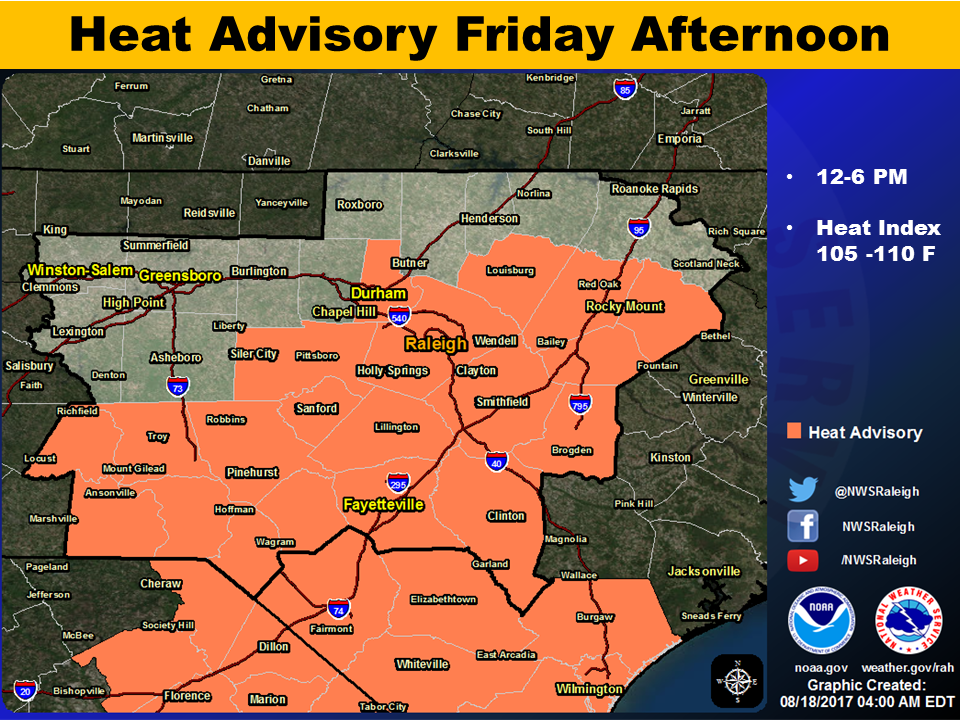 Moore County Under Heat Advisory Until 6 PM