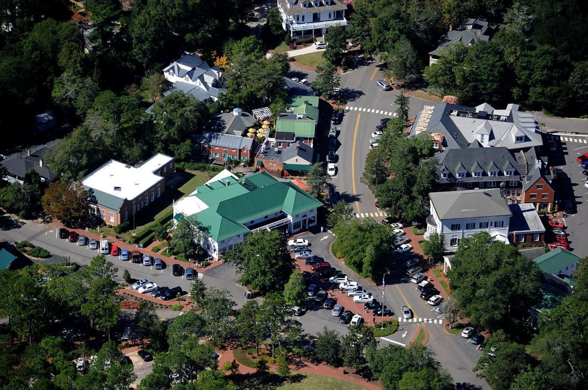 TEASER Aerial View of Pinehurst Village