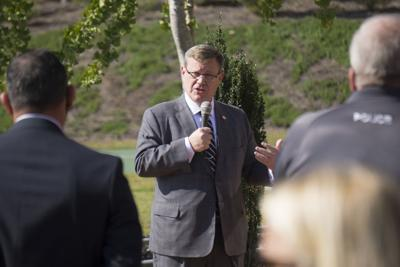 Rep. Tim Moore, speaker of the state House, at Sandhills Community College on Oct. 7, 2020