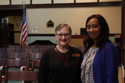 Chaplin Sarah Rieth and Resident Services Coordinator April Lyles