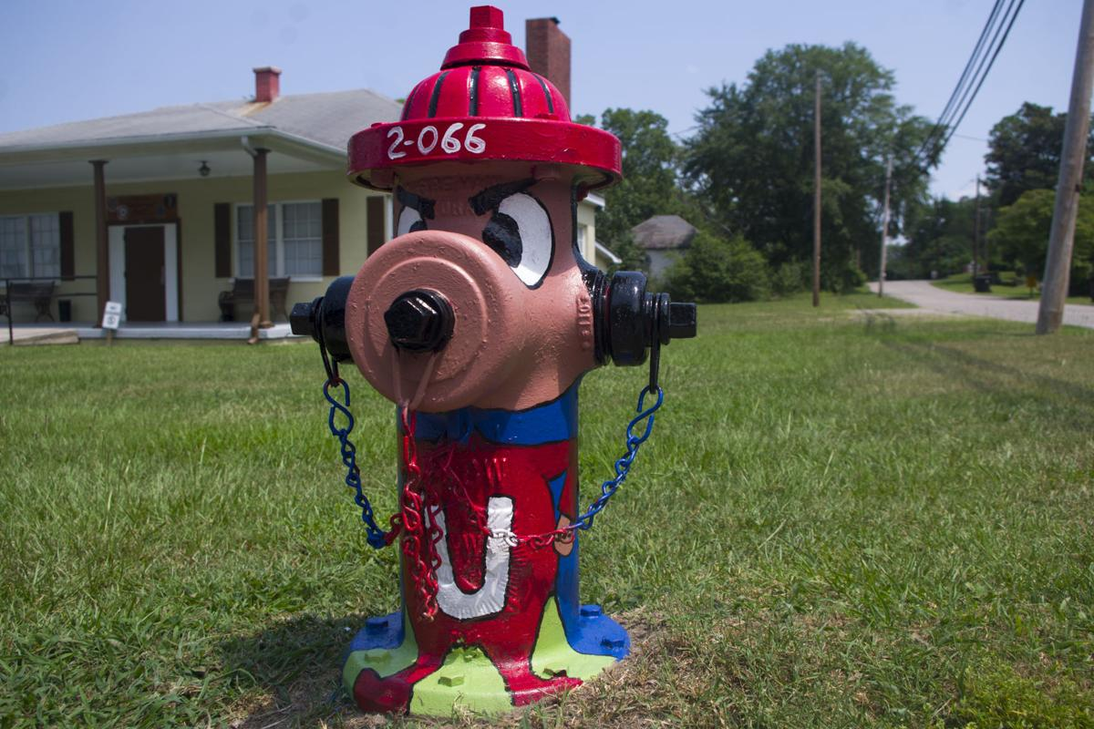 An Underdog-themed fire hydrant near American Legion Post 72