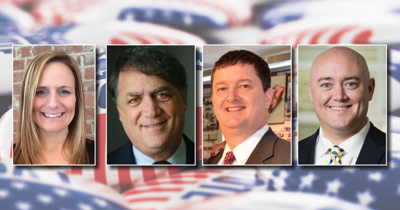 From left: Stacey Caldwell, Robert Levy, David Hensley and Philip Holmes