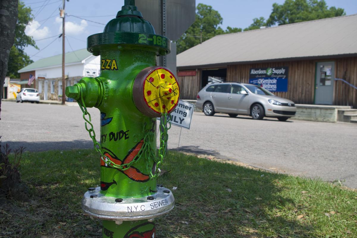 A fire hydrant based on the Teenage Mutant Ninja Turtles
