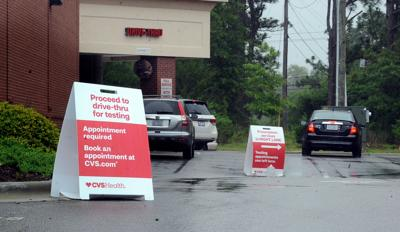 Drive-thru coronavirus testing at CVS in Aberdeen