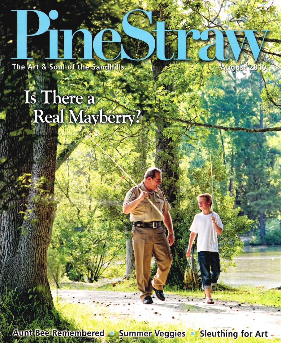 Moore County Sheriff Lane Carter appeared on the cover of PineStraw Magazine