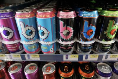 Bang energy drink on sale at a convenience store in Southern Pines