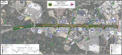 U.S. 15-501 Super Street map