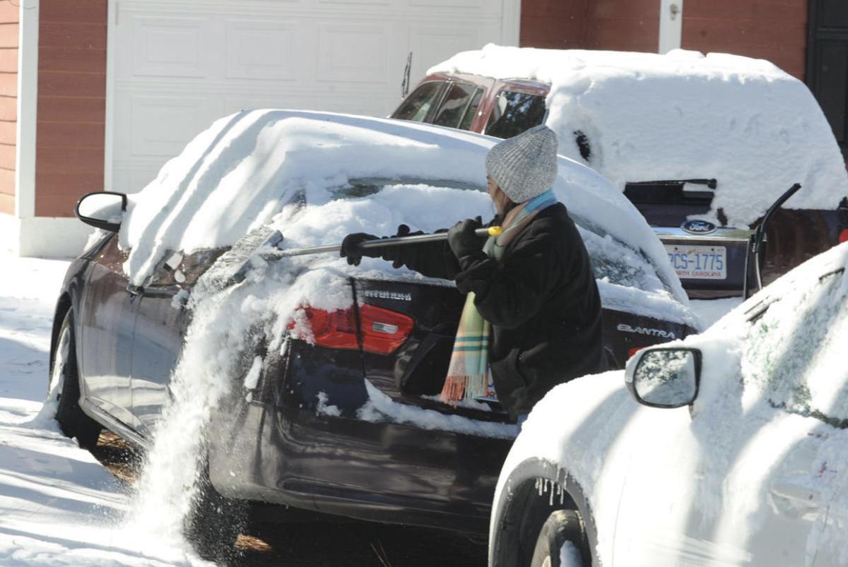 Snow Sweeping in Pinehurst