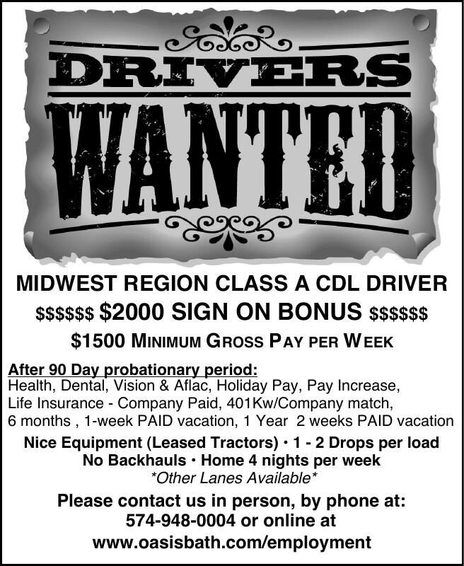 MIDWEST REGION CLASS A CDL DRIVER