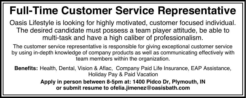 Full-Time Customer Service Representative