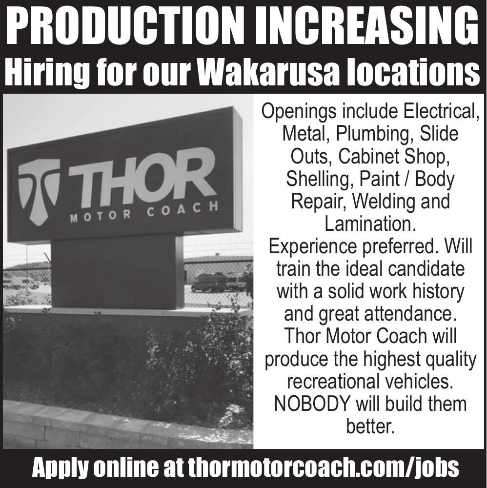 Thor Motor Coach Is Hiring