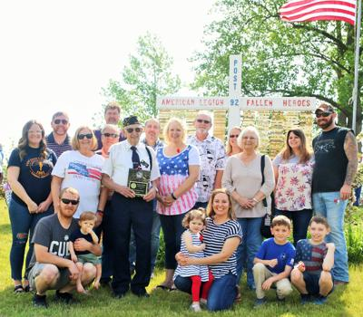 North Judson American Legion Post 92 honors 92-year-old WWII Senior Honor Guard Frank Amidei  with special plaque