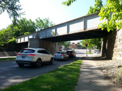 Michigan Street viaduct in Plymouth