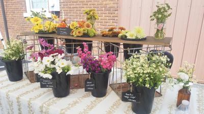Build-a-bouquet available at Bremen's farmer's market