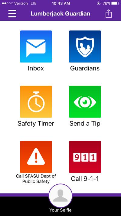 Lumberjack Guardian app enhances campus safety