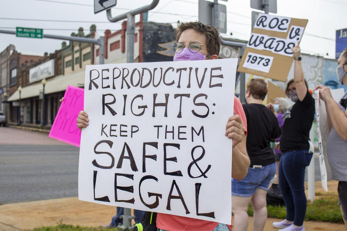 People in Nacogdoches hold protest for women's reproductive rights
