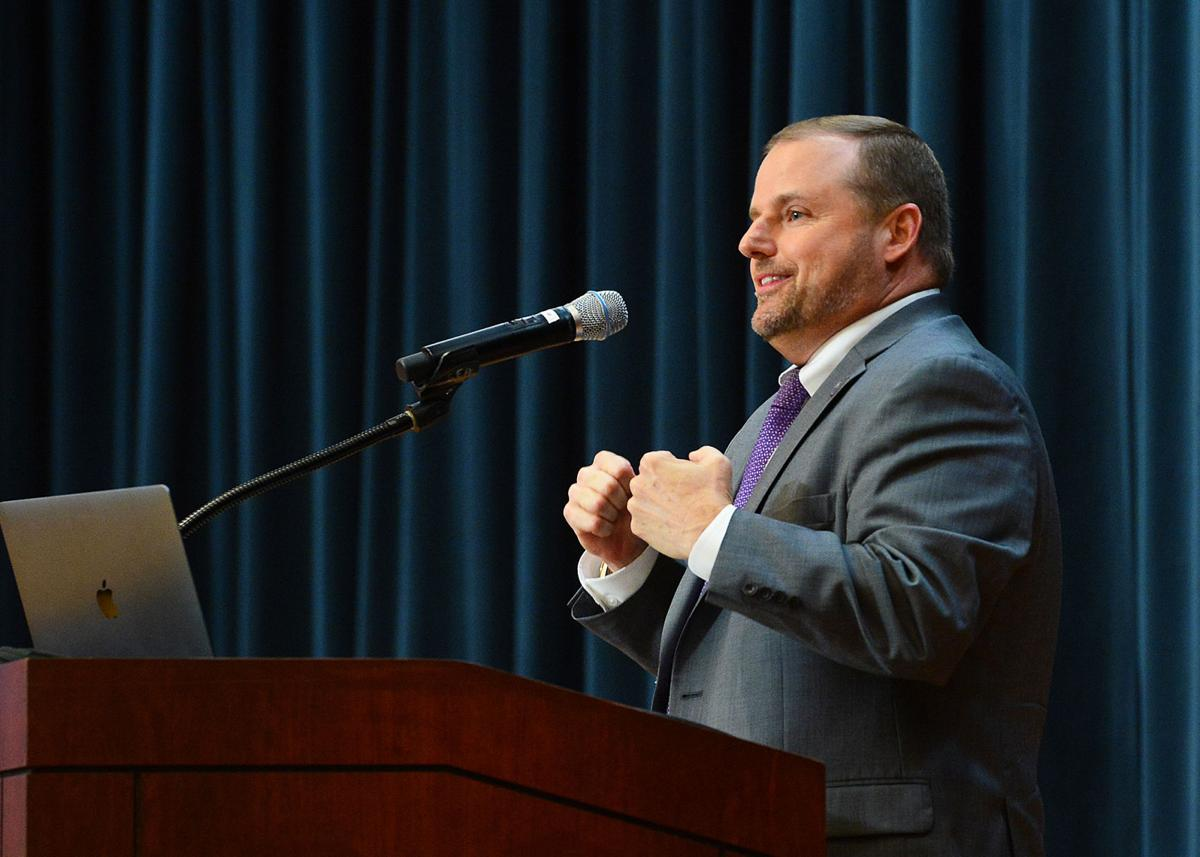 New SFA president addresses faculty and staff