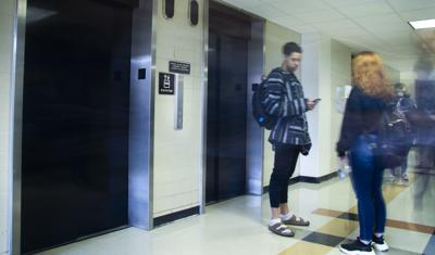 Disabled students affected by long elevator lines