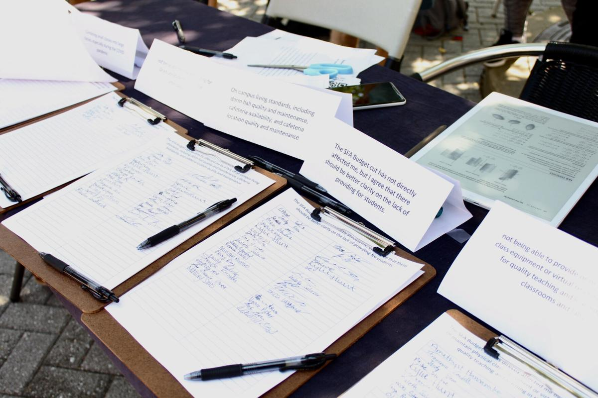 Students create petitions asking for budget clarity