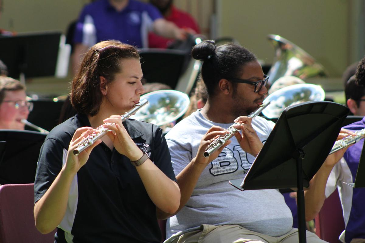 SFA bands play concert in park