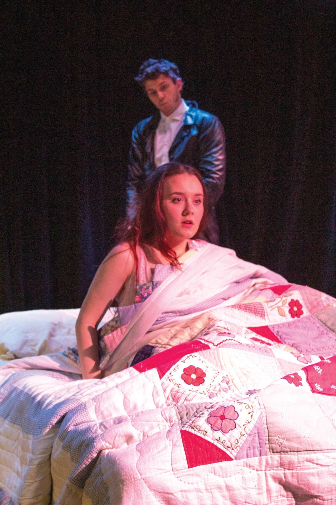 Actors perform in student-directed production 'The Disruptive Discursive Delusions of Donald'