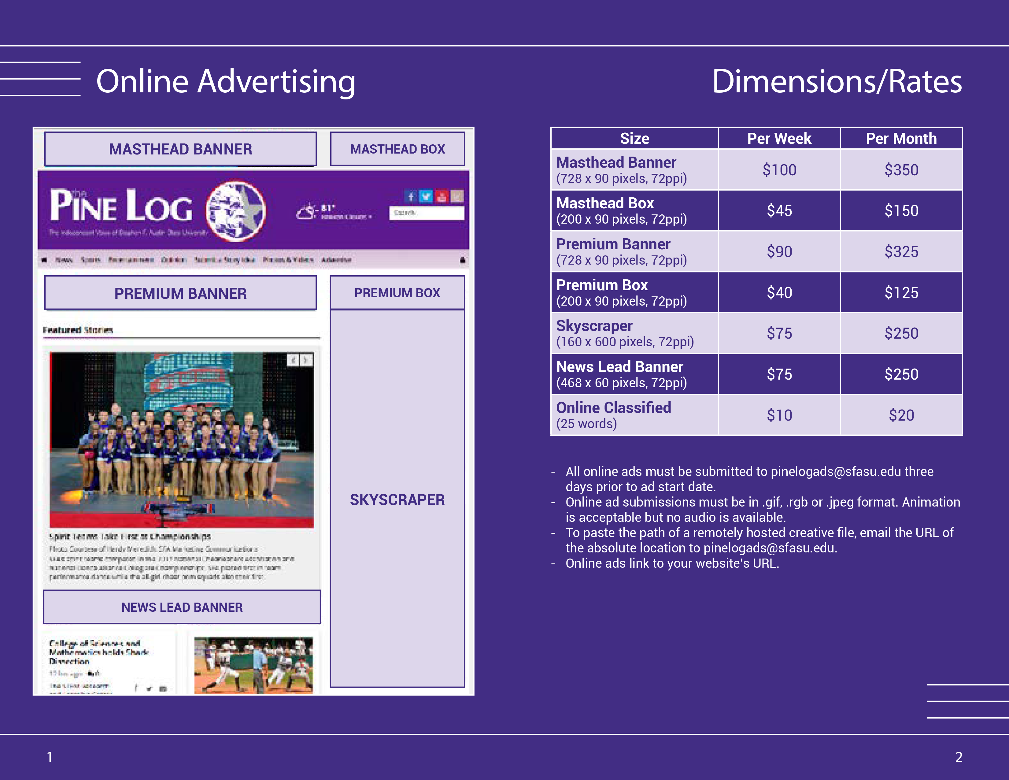 PL 20-21 Online Ad Rates