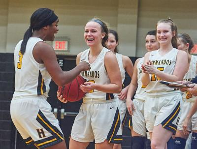 Hendersonville players celebrate after defeating Portland Tuesday night.