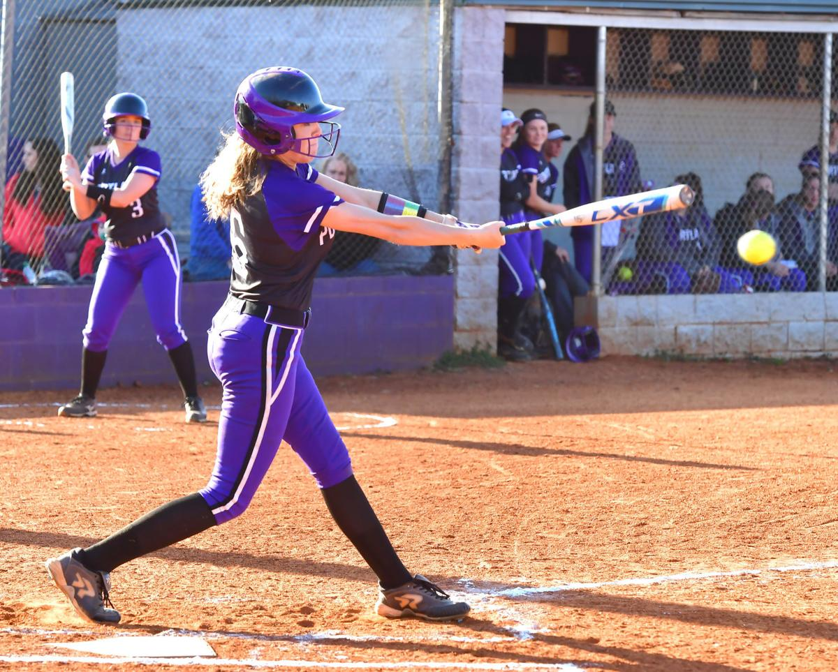 Cailey Walker makes contact during a game in 2019..jpg