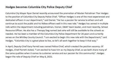 new police deputy