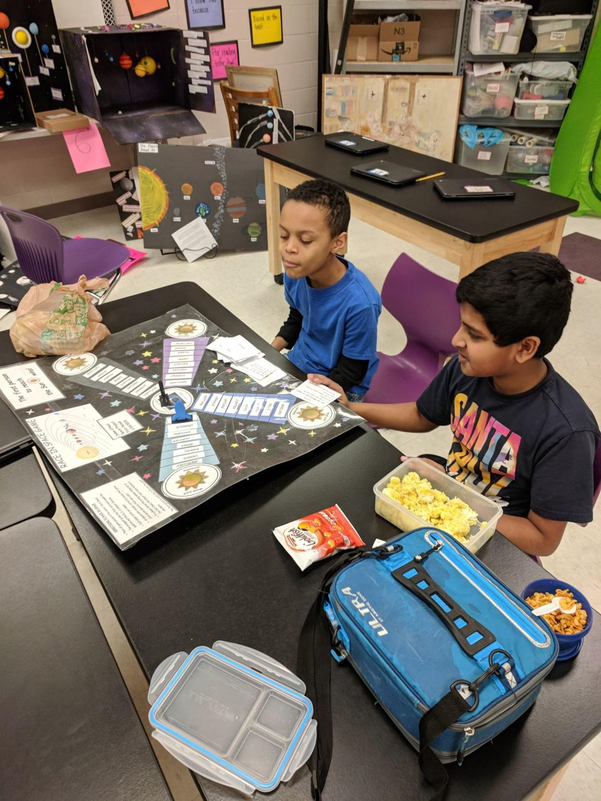 """NRMS fifth-graders show off projects at """"Space Night"""