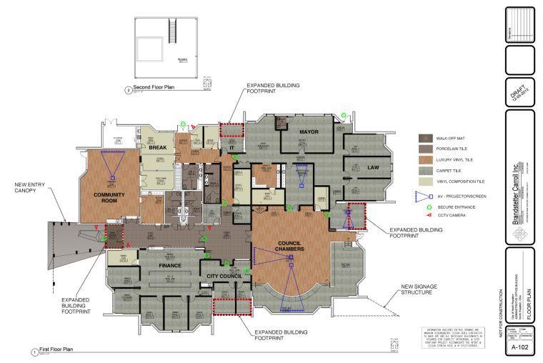 New city hall layout