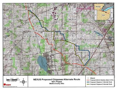 Possible pipeline routes