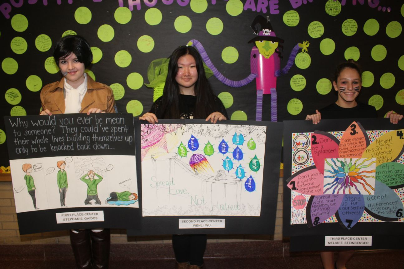 middle school students display anti bullying message through art rh thepostnewspapers com