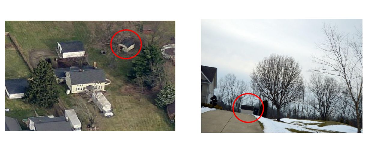 A Storage Barn Seen On Strongsville Schoolsu0027 Property (left) Was Reportedly  Spotted At The Residence Of Former Strongsville City Schools Maintenance  Foreman ...
