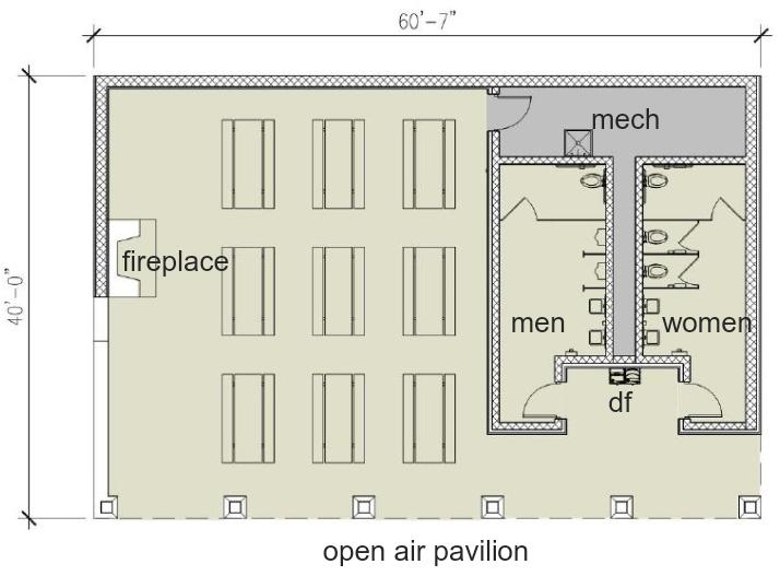 Pavilion interior