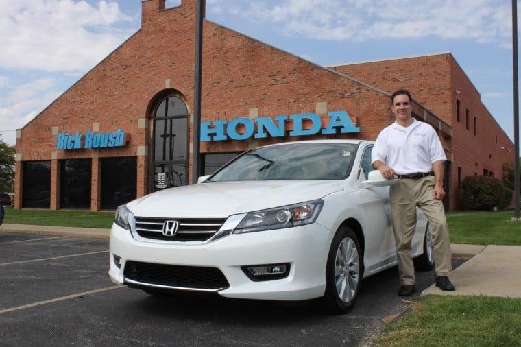 Nice Rick Roush, Owner Of Rick Roush Honda, Stands With The New 2013 Honda  Accord Outside His Dealership On Medina Road.