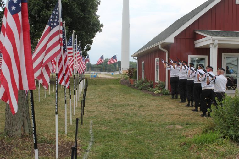 Ohio Flags of Honor on display at Cuyahoga County Fair