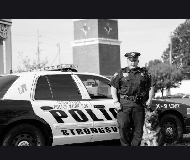 Strongsville Police Officer Shamus Kelley and K-9 Achill