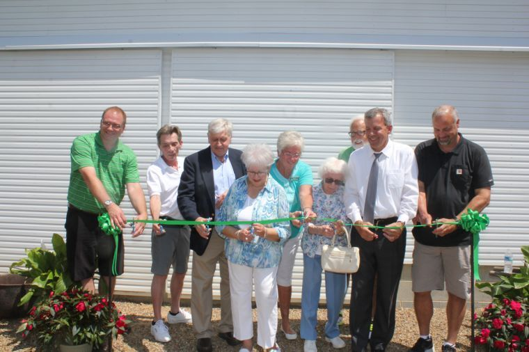 Cutting the ribbon on history