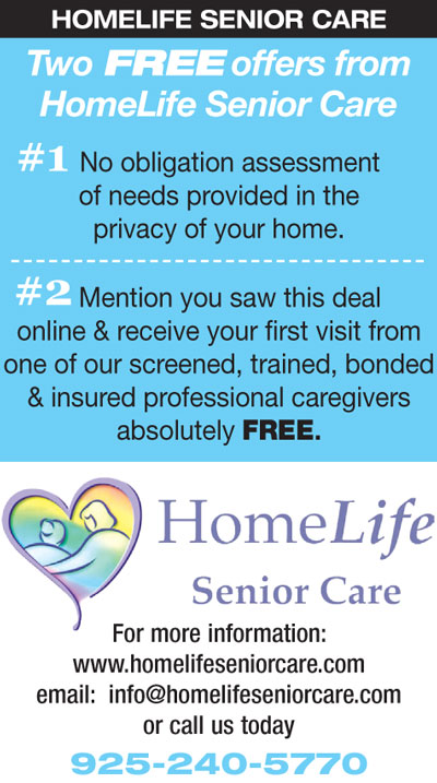 FREE Assessment and FREE First Visit from HomeLife Senior Care