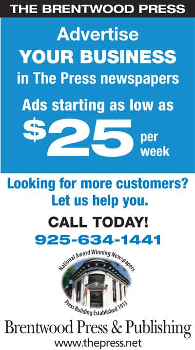 Advertise Your Business for as low as $25 from Brentwood Press & Publishing