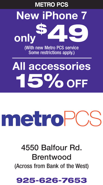 New iPhone 7 only $49 / All Accessories 15% off at MetroPCS