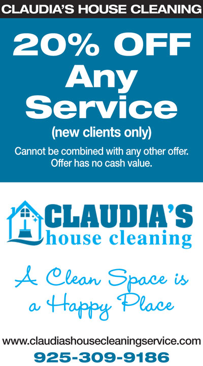 20% OFF Any Service at Claudia's House Cleaning