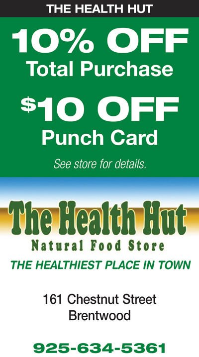 10% Off Total Purchase / $10 Off Punch Card at The Health Hut