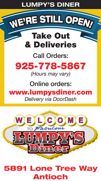 OPEN for Take Out & Deliveries from Lumpy's Diner