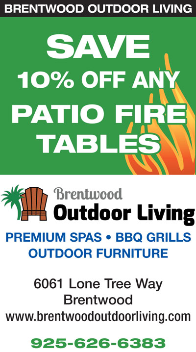 Save 10% off any Patio Fire Tables at Brentwood Outdoor Living